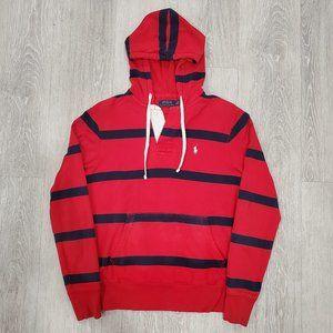 Polo Ralph Lauren Men Vintage Striped Rugby Hoodie
